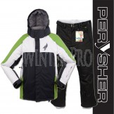 PERYSHER Performance Mens Snowboard / Ski Jacket & Pants Combo | Green Black Suit