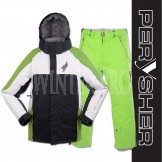 PERYSHER Mens Snowboard / Ski Jacket & Pants Combo Suit - Mild Neon Green