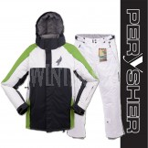 PERYSHER Performance Mens Snowboard / Ski Jacket & Pants Suit | Green & White