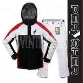 PERYSHER Performance Men Snowboard / Ski Jacket & Pants | Fire Red & White Combo