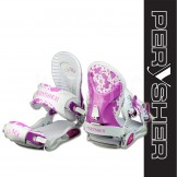 PERYSHER M5 Performance Aluminum Snowboard Bindings - Pink