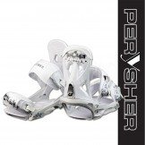 PERYSHER White SPLASH Lightweight Performance Snowboard Bindings