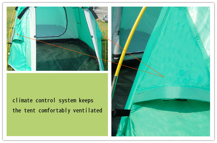 kaima Pro Camping Spark Resistant Tent - Climate Control System