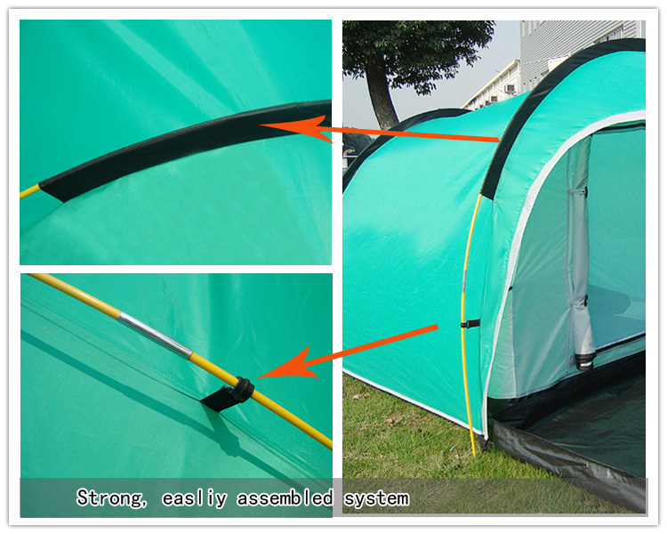 kaima Pro Camping Spark Resistant Tent - easy to assemble