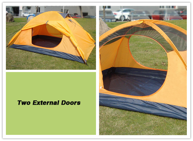 Kaima tent with 2 external doors