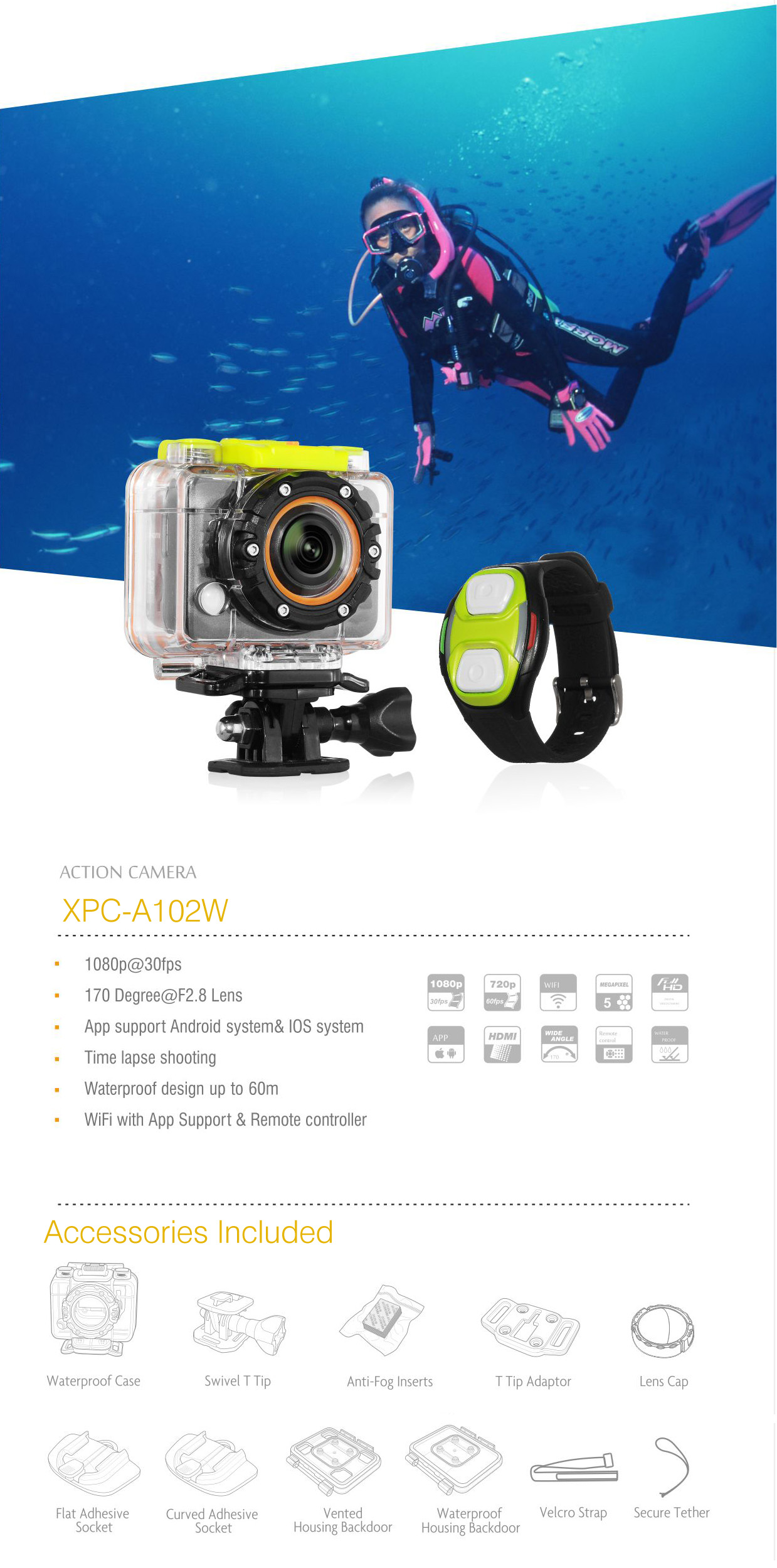 Xplore Action Cam A102W
