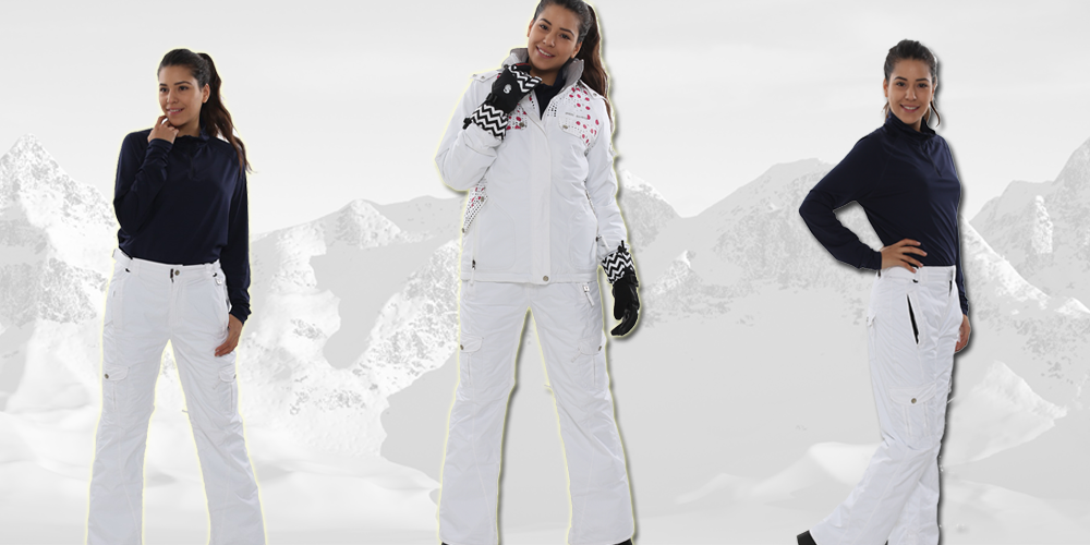Perysher Womens Ski Snowboard Pants - Liberty White