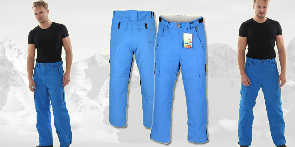 PERYSHER mens Blue ski snowboard pants